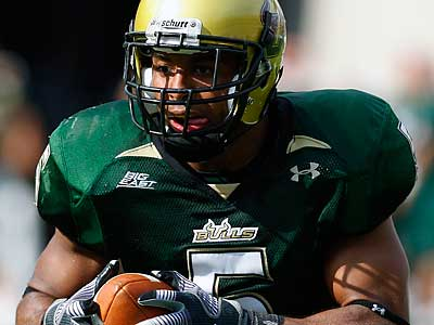 The Eagles selected South Florida safety Nate Allen in the second round. (AP Photo/Chris O´Meara)