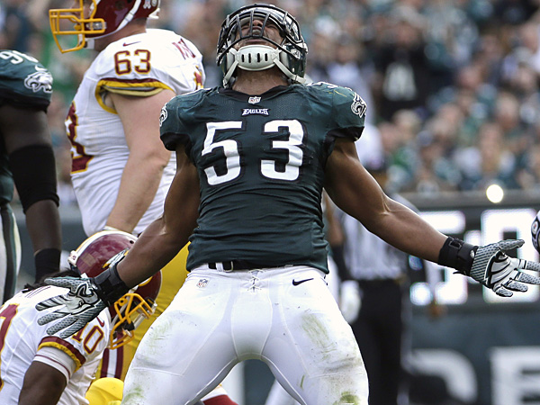 Eagles linebacker Najee Goode. (Matt Slocum/AP file photo)