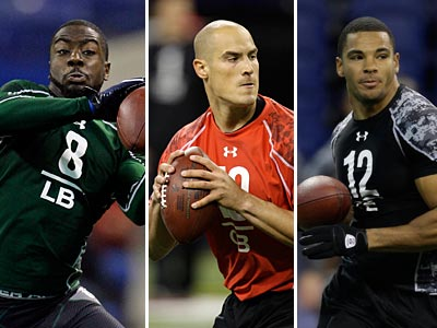 The Eagles picked LB Keenan Clayton, QB Mike Kafka and TE Clay Harbor late in the fourth round. (AP Photos)
