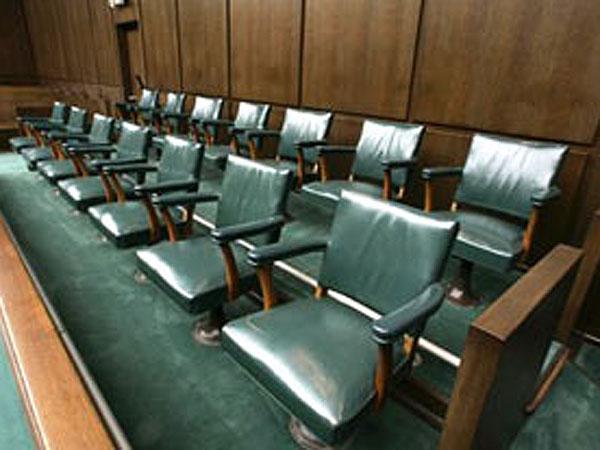 An empty jury box. (AP file photo)
