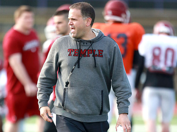 Temple football coach Matt Rhule. (David Swanson/Staff Photographer)