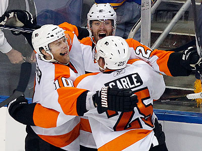 The Flyers stunned the Sabres with a 5-4 overtime win in Game 6 in Buffalo. (Yong Kim/Staff Photographer)