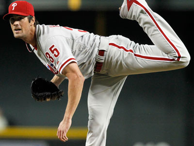 """I was trying to hit him,"" Cole Hamels said. ""I´m not going to deny it.""  (AP Photo/Ross D. Franklin)"