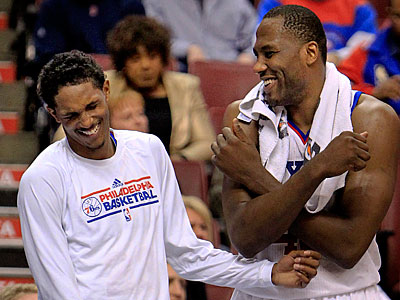 Lou Williams and Elton Brand will get some extra rest heading into the playoffs. (Ron Cortes/Staff Photographer)