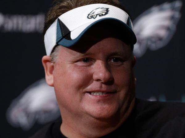 Chip Kelly speaks during a news conference at the team´s NFL football training facility, Tuesday, April 16, 2013, in Philadelphia. (Matt Rourke/AP)