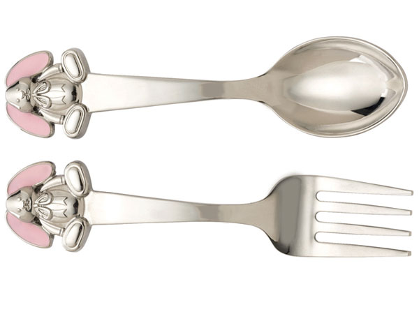 Gingham Bunny Flatware Collection´s fork and spoon set has been recalled. (Photo: CPSC.gov)