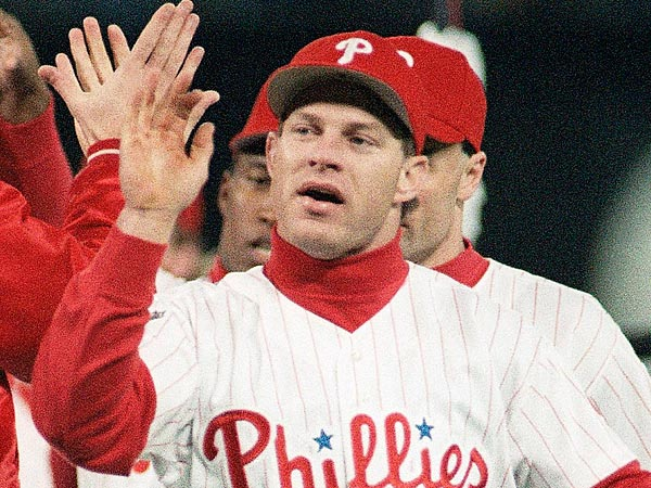 Philadelphia Phillies Lenny Dykstra. (AP Photo/Rusty Kennedy)