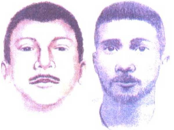 Sketches of the suspect in the Fairmount Park Rapist attacks, from 2003 (left) and 2007.
