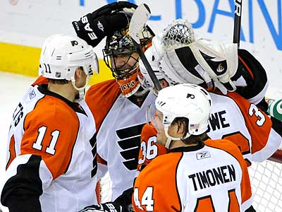 The Flyers will face the Boston Bruins in the Eastern Conference semifinals. (Bill Kostroun/AP file photo)