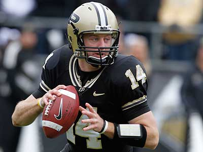 Purdue QB Joey Elliott was among 11 undrafted free agents to sign with the Eagles. (AP Photo/Darron Cummings)