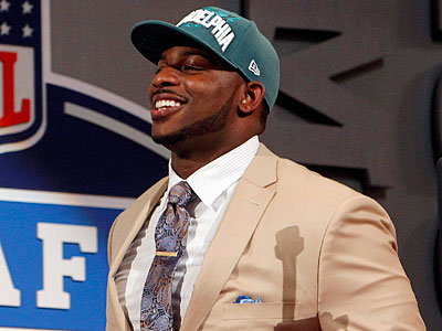 The Eagles selected defensive tackle Fletcher Cox as the 12th pick of the 2012 NFL draft. (Jason DeCrow/AP)