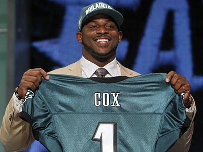The Eagles picked Mississippi State defensive tackle Fletcher Cox with the 12th-overall pick. (Jason DeCrow/AP)