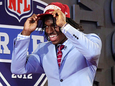 Drafted by the Redskins, quarterback Robert Griffin III was one of the marquee names added to the NFC East. (Mary Altaffer/AP Photo)