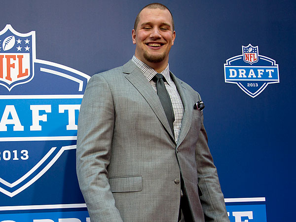 Eagles first round draft pick Lane Johnson. (Craig Ruttle/AP)