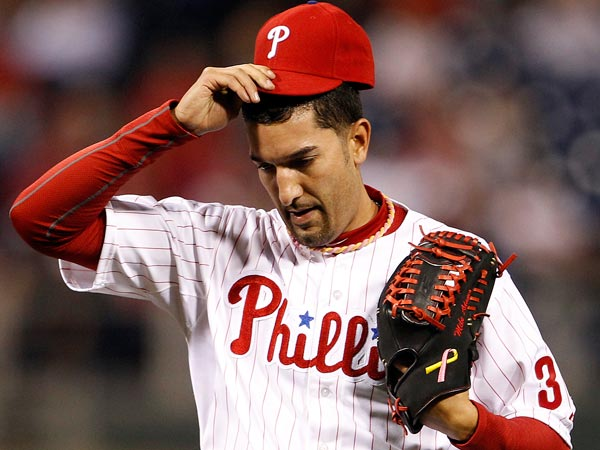 Phillies relief pitcher Mike Adams. (Yong Kim/Staff Photographer)