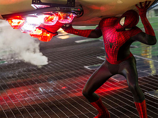 "Andrew Garfield stars as Spider-Man in ""The Amazing Spider-Man,"" also starring Emma Stone. (Columbia Pictures)"
