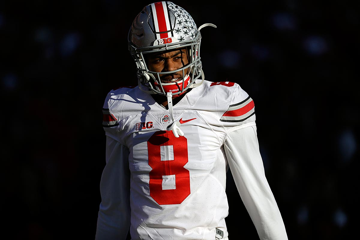 Ohio State cornerback Gareon Conley prepares for an NCAA college football game against Maryland in College Park, Md., Saturday, Nov. 12, 2016.