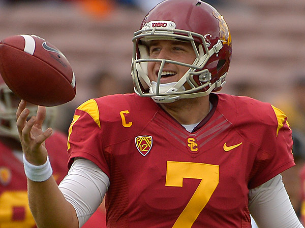 The Eagles drafted USC quarterback Matt Barkley in the fourth round. (AP Photo)