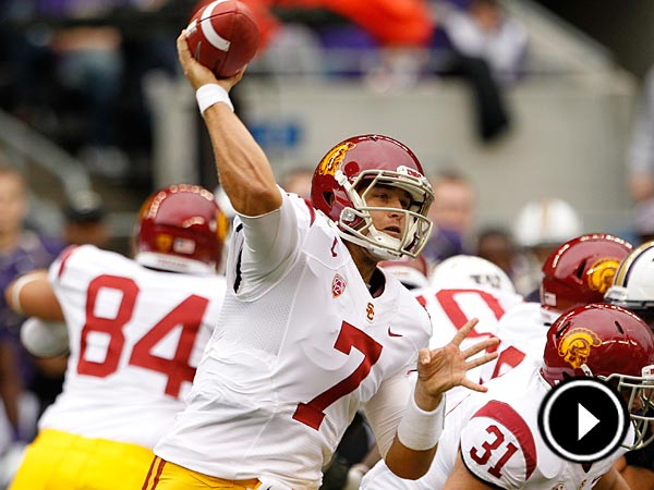 The Eagles selected Matt Barkley in the fourth-round of the NFL draft.(AP/Elaine Thompson)