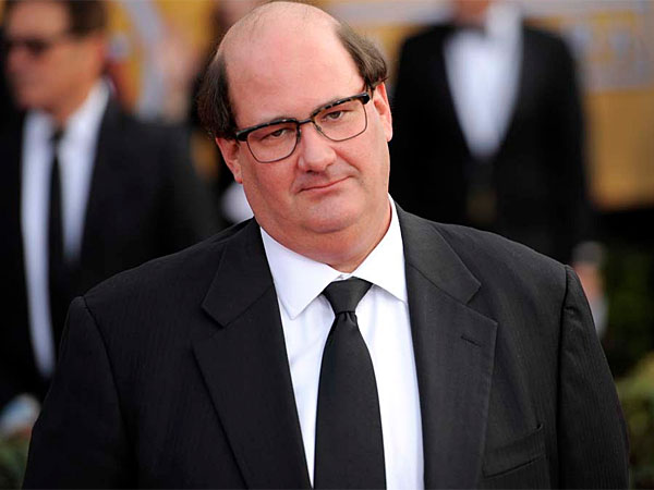 Brian Baumgartner arrives at the 19th Annual Screen Actors Guild Awards at the Shrine Auditorium in Los Angeles on Sunday, Jan. 27, 2013. The ´Office´ actor wed girlfriend Celeste Ackelson on Saturday, April 26. (Photo by Chris Pizzello/Invision/AP)
