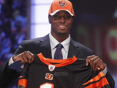 A.J. Green was selected as the fourth overall pick by the Bengals in the NFL draft. (Jason DeCrow/AP Photo)