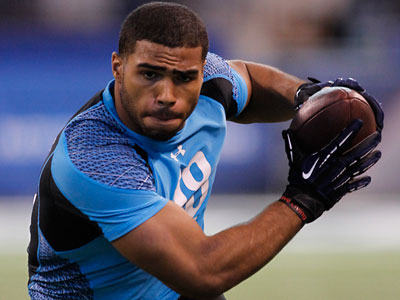 The Eagles selected linebacker Mychal Kendricks with their first pick of the second round. (AP Photo/Dave Martin)