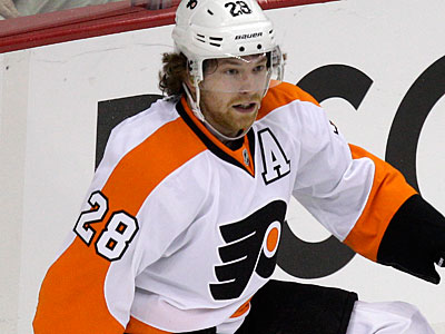 Claude Giroux was given a one-game suspension for a hit on Dainius Zubrus in Game 4. (Gene J. Puskar/AP)