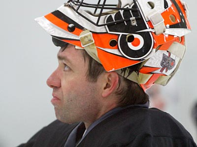 Brian Boucher makes sense as a backup to Ilya Brygalov for a variety of reasons. (Charles Fox/Staff file photo)