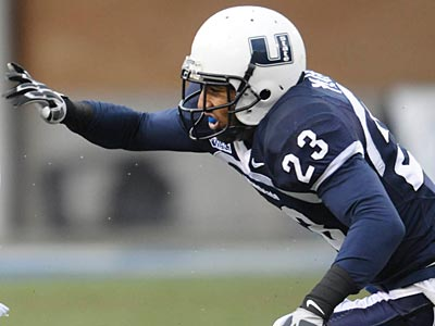 Utah State´s Curtis Marsh, a defensive back, was the Eagles third round selection. (Jennifer Meyers/AP)