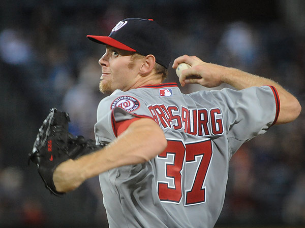 Nationals ace Stephen Strasburg could miss his next start due to tightness in his right forearm. (John Amis/AP)