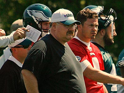 Andy Reid and the Eagles held their first minicamp practice today at the NovaCare Complex. (Alejandro A. Alvarez / Staff Photographer)
