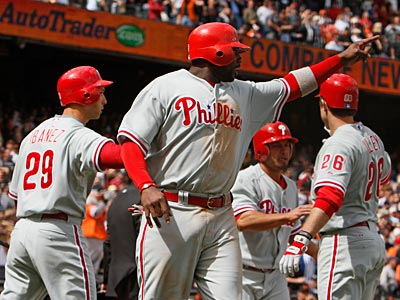 The Phillies will try to regain control of the NL East this weekend against the Mets. (AP Photo/Eric Risberg)
