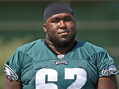 Eagles guard Max Jean-Gilles has lost 15 pounds, according to a report. (Steven M. Falk / Staff Photographer)