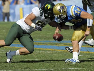 The Eagles drafted Oregon linebacker Casey Matthews in the fourth round of the NFL draft. (AP Photo/Chris Carlson)
