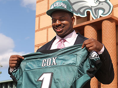The Eagles traded up in the first round to draft Mississippi State DT Fletcher Cox. (Michael Bryant/Staff Photographer)