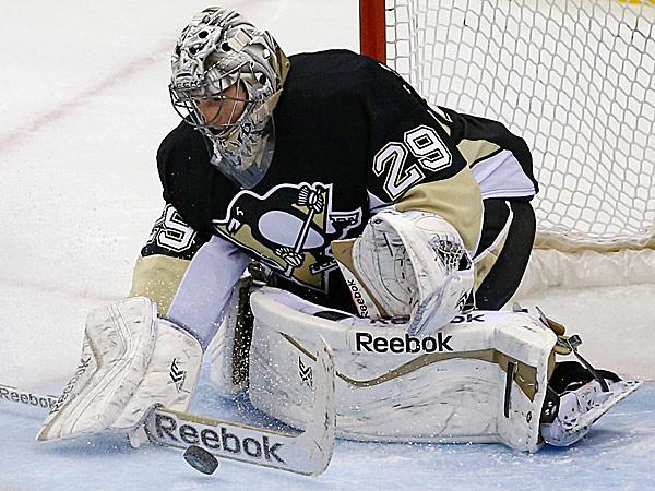 Penguins goalie Marc-Andre Fleury. (Gene J. Puskar/AP)