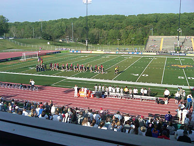 The Independence and Atlanta Beat take the field at West Chester´s Farrell Stadium. (Jonathan Tannenwald/Philly.com)