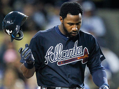 Braves rightfielder Jason Heyward will be out of the lineup against the Phillies on Tuesday. (AP Photo/Mike Stewart)