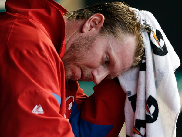 Here are Roy Halladay´s career Phillies numbers entering the start when he jumped the shark. (Tony Dejak/AP)