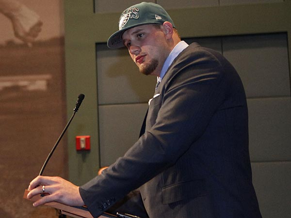 The Eagles took offensive tackle Lane Johnson with the fourth overall pick in the 2013 NFL Draft. (Michael S. Wirtz/Staff Photographer)