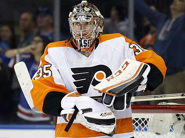 Flyers goalie Steve Mason. (Yong Kim/Staff Photographer)
