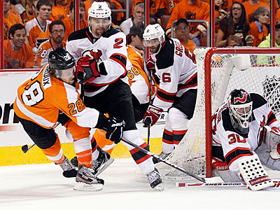 On Tuesday, Claude Giroux was held without a point for the first time since April 1. (Yong Kim/Staff Photographer)