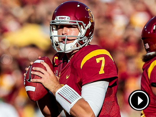 The Eagles traded up to draft USC quarterback Matt Barkley with the first pick of the fourth round. (Bret Hartman/AP file photo)