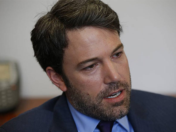 Actor Ben Affleck is interviewed by the Associated Press regarding Congo, Wednesday, Feb. 26, 2014, at the State Department in Washington. The actor was reportedly banned from blackjack at the Hard Rock casino in Las Vegas. (AP Photo/Charles Dharapak)