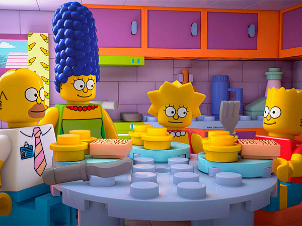 """The 550th episode - yes, 550th - transforms Springfield into a world of interlocking plastic pieces, in a Lego-themed extravaganza titled """"Brick Like Me."""""""