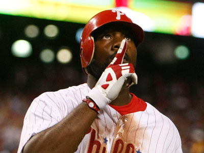 Ryan Howard reacts after hitting a home run against the Mets on Sunday. (Ron Cortes / Staff Photographer)