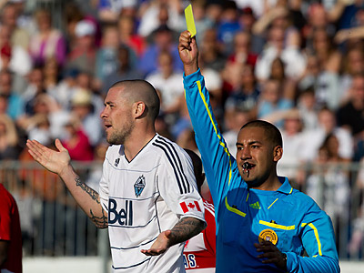 Referees have been under increased scrutiny in Major League Soccer this season. (Darryl Dyck/Canadian Press/AP)