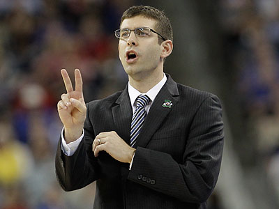 Brad Stevens will match wits with Phil Martelli and Dr. John Giannini when Butler joins the Atlantic 10. (Eric Gay/AP file photo)