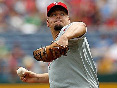 Phillies pitcher Joe Blanton allowed just three hits in Thursday´s shutout. (John Bazemore/AP)