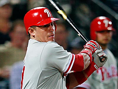Carlos Ruiz went 3-for-5 with seven RBI in the Phillies´ 15-13 loss to the Braves Wednesday night. (John Bazemore/AP)